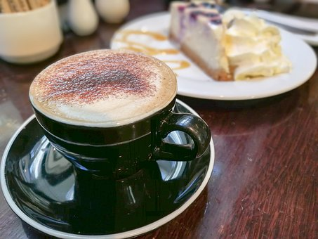 Coffee, Cafe, Cake Cheese, Cappuccino, Cup, Drink
