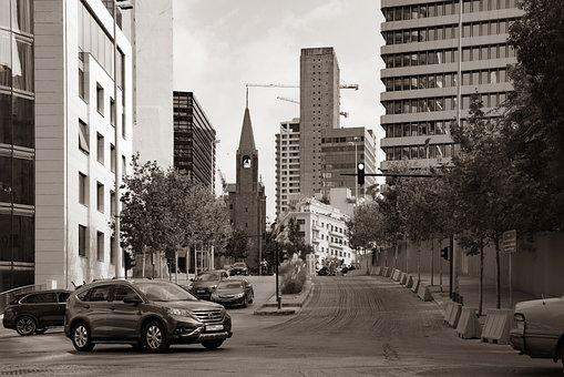 City, Street, Church, Building, Modern, Architecture