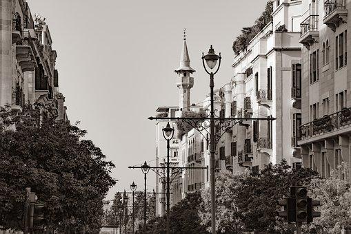 City, Town, Street, Buildings, Minaret, Ancient
