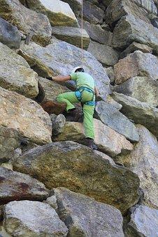 Climb, Rock, Climber, Climbing Wall, Mountaineering