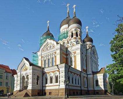 Estonia, Tallinn, Alexander Nevsky Cathedral, Church