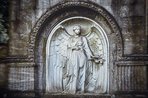 Angel, Sculpture, Statue, Figure, Cemetery, Hope, Stone