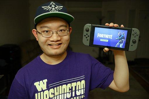 Gamer, Fortnite, Nintendo, Switch, Video Game, Game