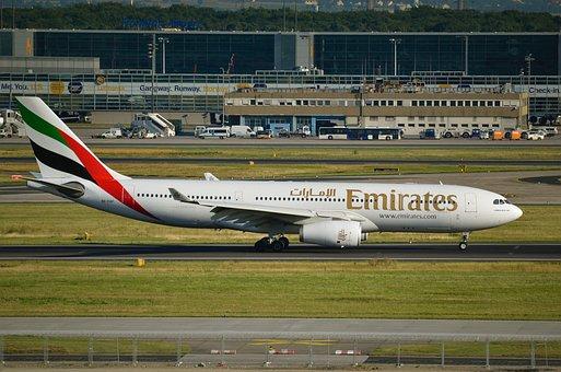 Airport, Frankfurt, Fra, Airbus A330, Emirates