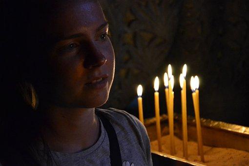 Holy Sepulchre Church, Israel, Candles, Christian