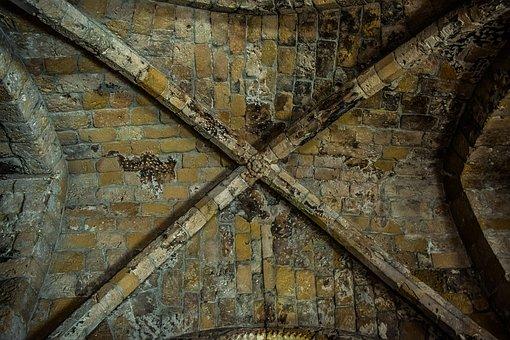 Ceiling, Stone, Cyprus, Kiti, Panagia Angeloktisti