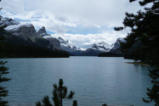 Maligne Lake, Canada, Rockies, Landscape, Travel, Range