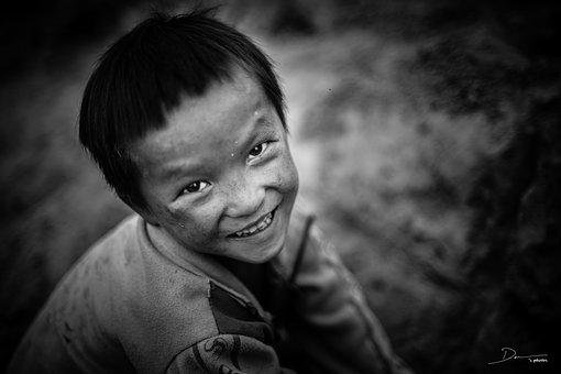 Child, Poor, The, People, Young, Sad, Less, Village