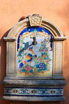 Fountain, Mediterranean, Provence, France