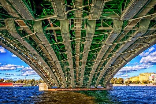 Bridge, River, Architecture, Metal, Rivet, Iron