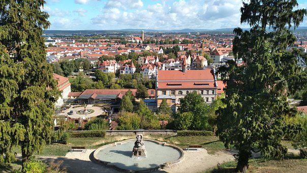 Bamberg, Panorama, Michel Mountain, Fountain, City