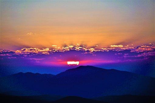 Day Nativity, Morning, Nature, Mountains, Light, Sky
