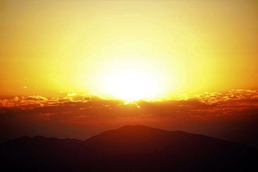Day Nativity, Morning, Light, Nature, Sky, Mountains