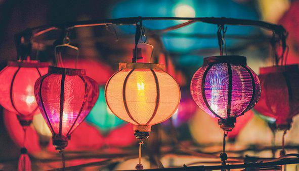 Light, Night, Old, Classic, Autumn, Asian, Market