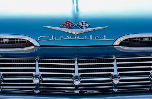 Chevrolet, Grille, Automotive, Oldtimer, Auto, American