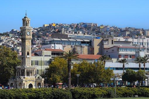 Izmir, Panorama, Tourism, Belfry, Tower, View, Travel