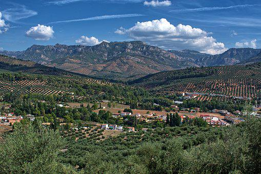 Landscape, Nature, Andalusia, Spain, Panorama