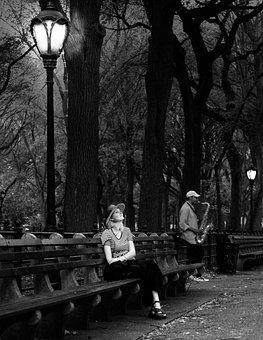Central Park, New York, Musician, Concert, Peaceful
