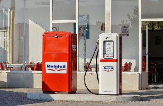 Petrol Stations, Gas Pump, Historically, Retro, Refuel