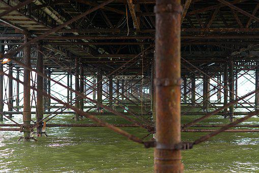 Pier, Brighton, Water, Seaside, Ocean, Architecture