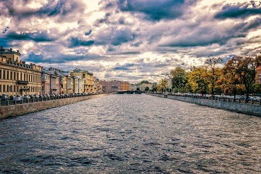 River, Channel, St Petersburg, Russia, Leningrad