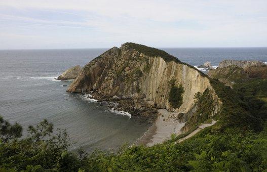Coastline, Beach, Spain, Asturias, Sea, Seaside