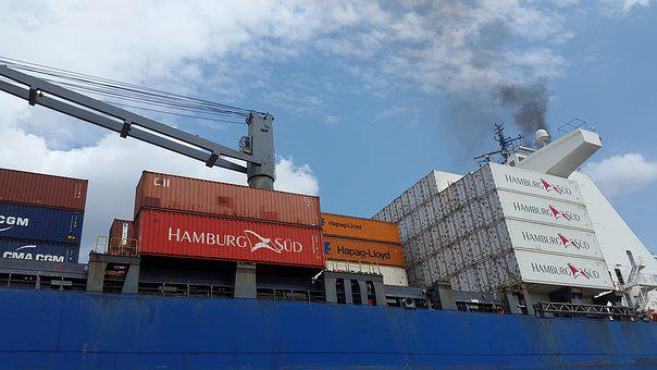 Container, Hamburg, Port, Elbe, Ship, Harbour Cranes