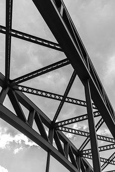 Steel, Construction, Bridge, Architecture, Building