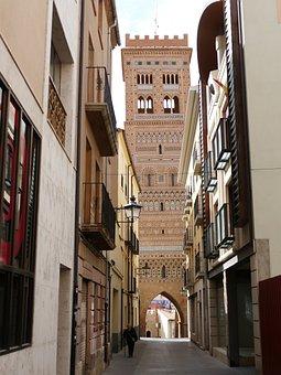 Spain, Teruel, Mudéjar Salvador Tower, 14th Century