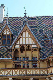 Beaune, The Hospices De Beaune, Roofing, Tiles
