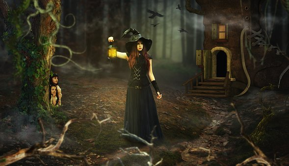 Fairy Tales, The Witch, Witch's House, Mystical