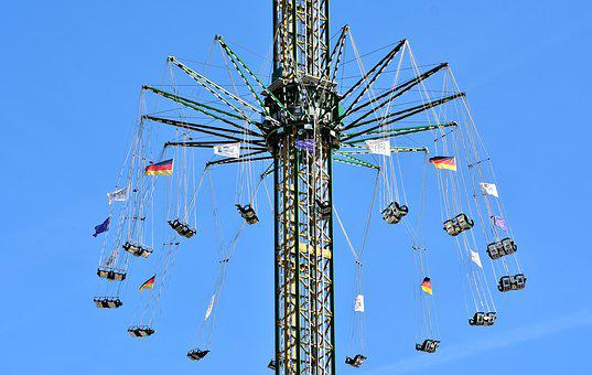 Carousel, Turn, High, Folk Festival, Year Market