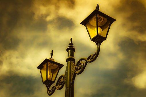 Lamp, Lantern, Park, Light, Design, Decoration, Vintage