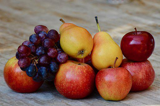 Grapes, Pears, Apple, Fruit, Red, Healthy, Vitamins