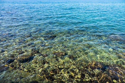 Water, Clear, Sea, Blue, Wave, Stones