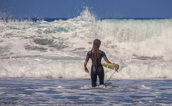 Surfer, Surfboard, Sea, Water Sports, Water, Head
