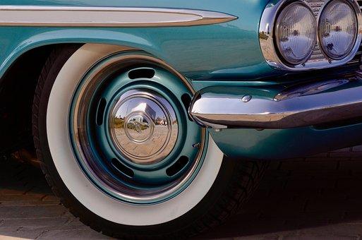 Chevrolet, Whitewall Tires, Spotlight, Chevy, Paint