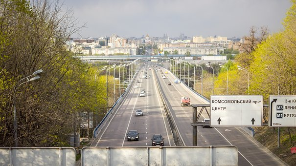 Avenue, Highway, Moscow, Landscape, Panorama, Gory
