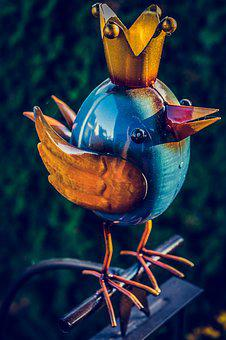 Bird, Deco, Decoration, Figure, Cute, Funny, Ceramic