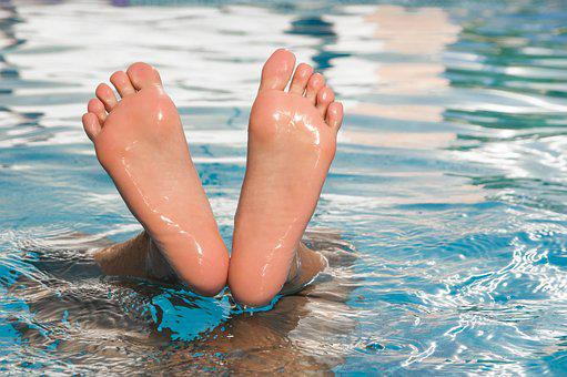 Feet, Toes, Body, Legs, Swimming, Swimming Pool