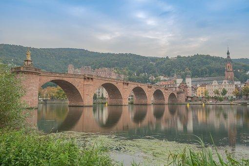 Heidelberg, Castle, Old Bridge, Bridge, Sightseeing