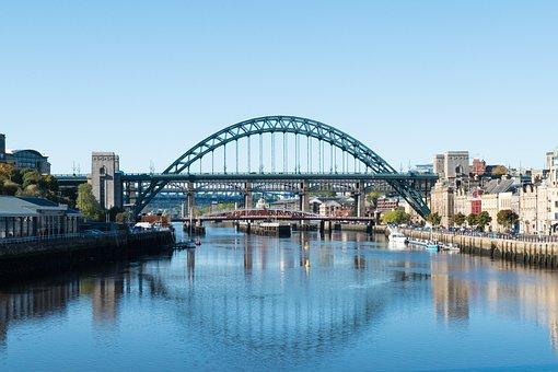 Bridge, Tyne, Newcastle, River, Landmark, Gateshead