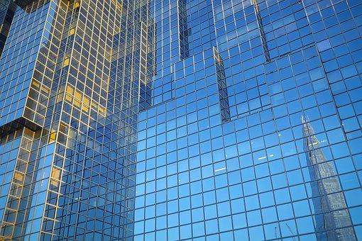 London, England, Mirroring, Glass, Facade, Architecture