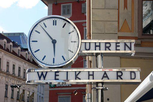 Clock, City, Graz, Time, Historical, Landmark, Famous