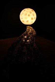 Month, Solar, Glass, Space, Dark, Night, Stars, Light