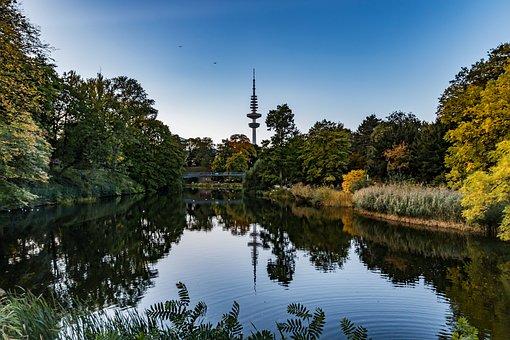 Water, Hamburg, Tower, Architecture, City, Building