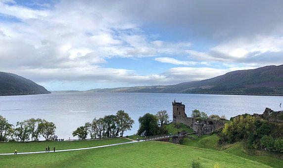 Loch Ness, Lake, Scotland, Tourism, Nature, Water, Sky