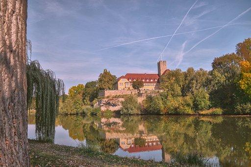 Water, Castle, Romantic, Sky, Landscape, Landmark
