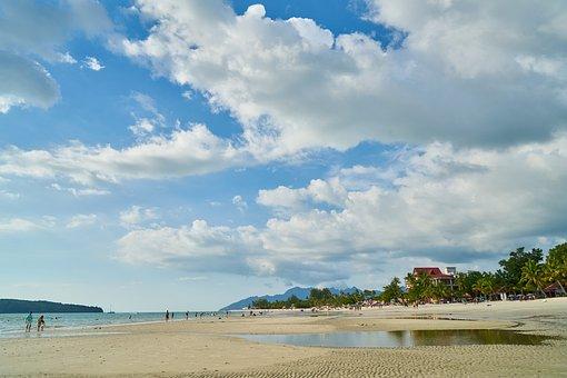 Landscape, Beach, Sand, Ocean, Tropical, Wave, Tourism