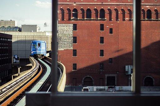 Train, Train Tracks, Detroit, Motor City, Lane